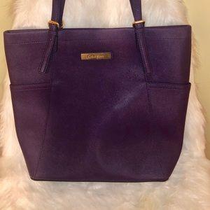 Beautiful purple Calvin Klein tote bag